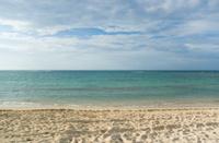 Ocean and White Sandy Beach on Sunny Day
