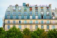 Parisian apartment building's top floors