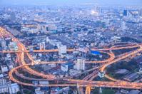 Bangkok city in nightscape Thailand.