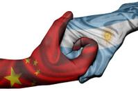 Handshake between China and Argentina