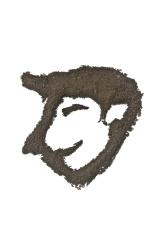 coffee grounds art, male face shape