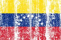 Venezuelan grunge flag.