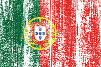 Portuguese grunge flag.