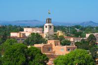 Downtown Santa Fe skyline closeup