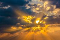 Cloud sun beam ray light warm orange color