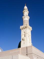 One of Minarets of Al-masjid Al-nabawi, Medina, Saudi Arabia