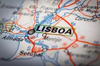 Lisboa on a road map