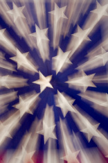 Shooting Stars American Flag