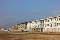the new condo development construction