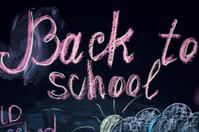 back to school on the blackboard