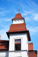 Small spire on building of Gründerzeit