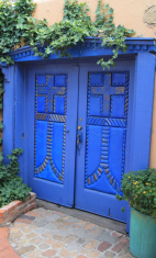 Blue doors in Old Town Albuquerque
