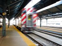 Chicago Metra Passenger Train Leaving Station