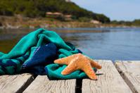 Beach towel with a starfish