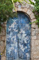 Old charming street in spanish village Valldemossa