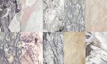 Ten different beige marble surface