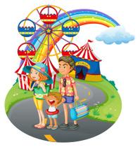 Family bonding at the carnival