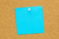 Blue blank post it paper
