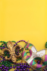Mardi Gras on Yellow