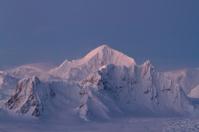 Shackleton Mountain ridge in the Antarctic Peninsula winter even