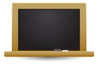 blank black board