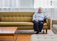 Elderly Man Waiting for Visitors