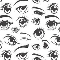 Anime style seamless pattern