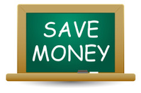 SAVE MONEY WORDS ON BLACKBOARD
