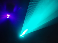 Light show in disco