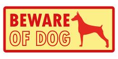 Beware of dog logo