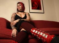 Detroit redhead tattoos her