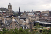 Edinburgh from Calton Hill including Edinburgh Castle