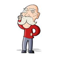 cartoon annoyed old man