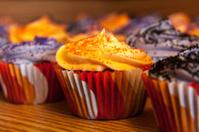 Halloween Orange and Black Cupcakes