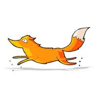 cartoon fox running