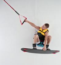 Wakeboarder wakeboarding