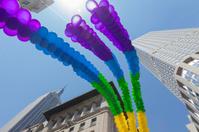 Rainbow LGBT balloons