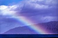 Rainbow over the Pacific Ocean