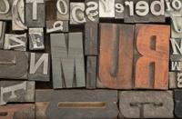 random letterpress