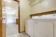 Small room with laundry appliances