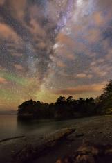 Milky Way shining bright at night