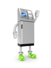 Stylized ATM.