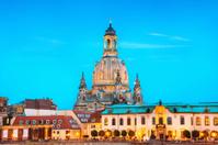 Frauenkirche at dusk - Dresden, Germany
