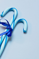 Blue Candy Canes