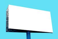 Blank Billboard on blue