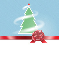 Background , xmas,fur-tree, star, ribbon and bow