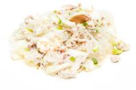 thai vermicelli and seafood dress salad