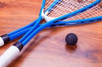 Squash rackets and balls