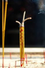 Buring incense sticks