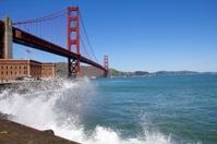 Waves Crashing by the Golden Gate Bridge